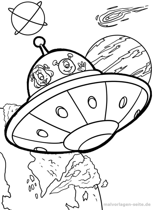 Malvorlage Ufo Im Weltall Malvorlagen Ausmalbilder Pinterest