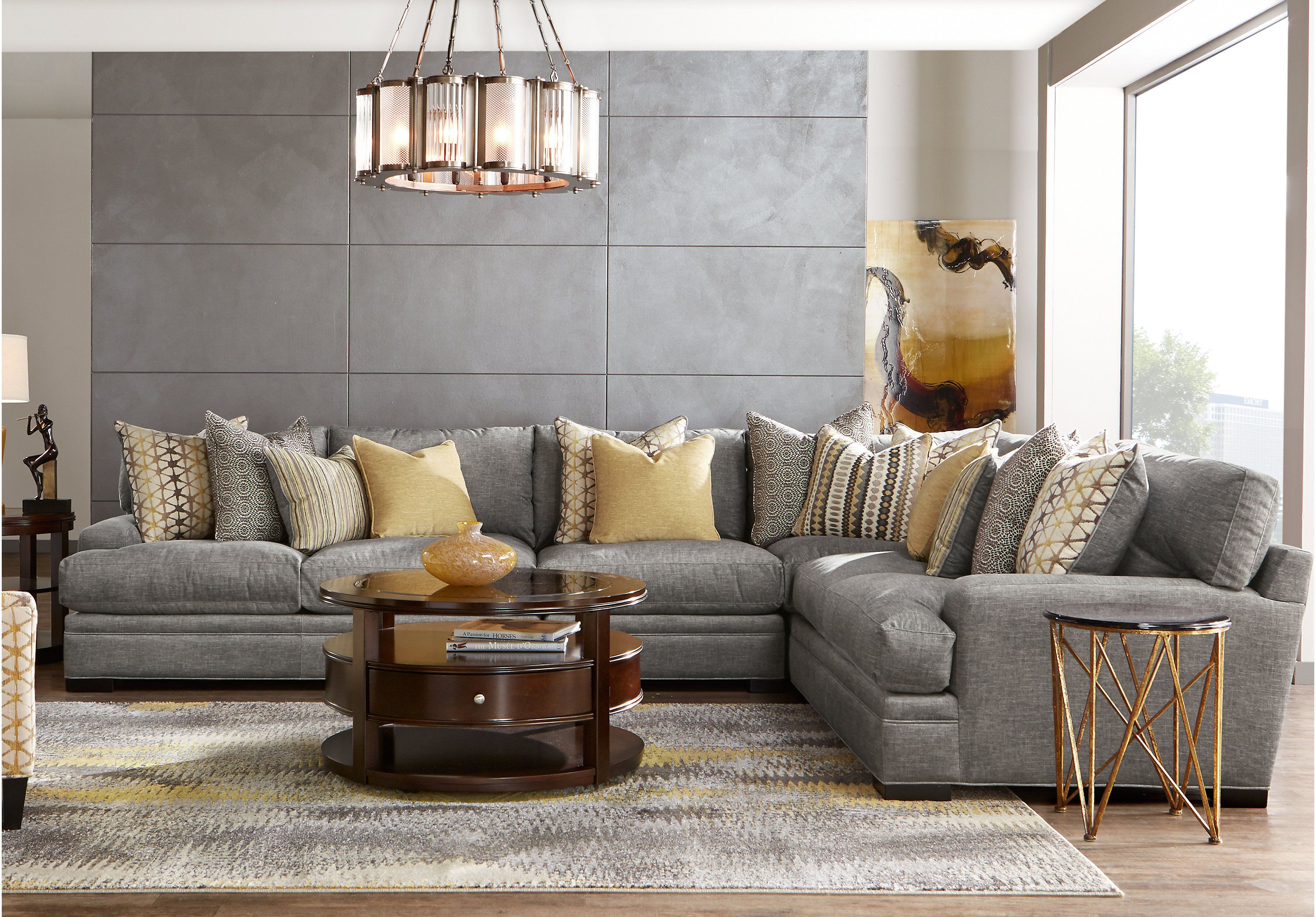Picture Of Cindy Crawford Home Palm Springs Gray 4 Pc Sectional