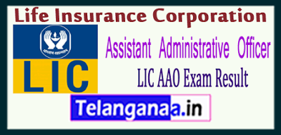 Lic Life Insurance Corporation Aao Result 2019 Life Insurance
