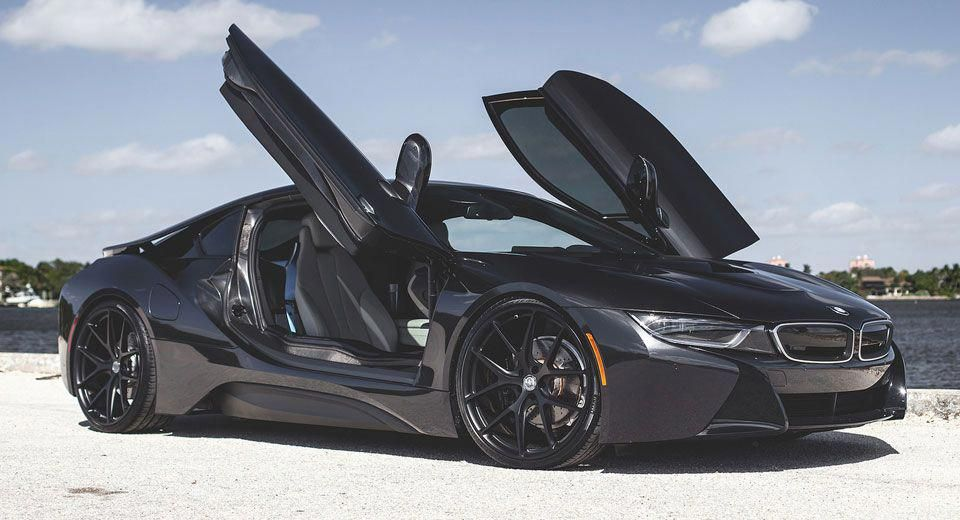 Blacked Out Bmw I8 Looks Stealthy With Hre Wheels Bmwclassiccars