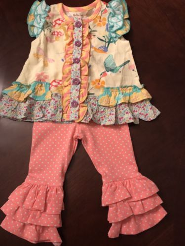a0bfc7caebf20 Bottoms 163175: Matilda Jane Size 3-6 Months Nwt Dancing Away Top And Magic  Word Leggings -> BUY IT NOW ONLY: $45 on eBay!