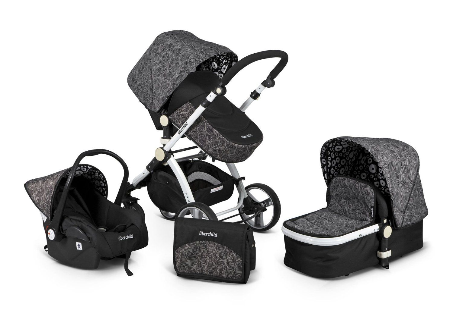 Best Travel System Strollers Uberchild Includes Stroller Carrycot Car Seat Changing Bag Rain Cover Footmuff EVO