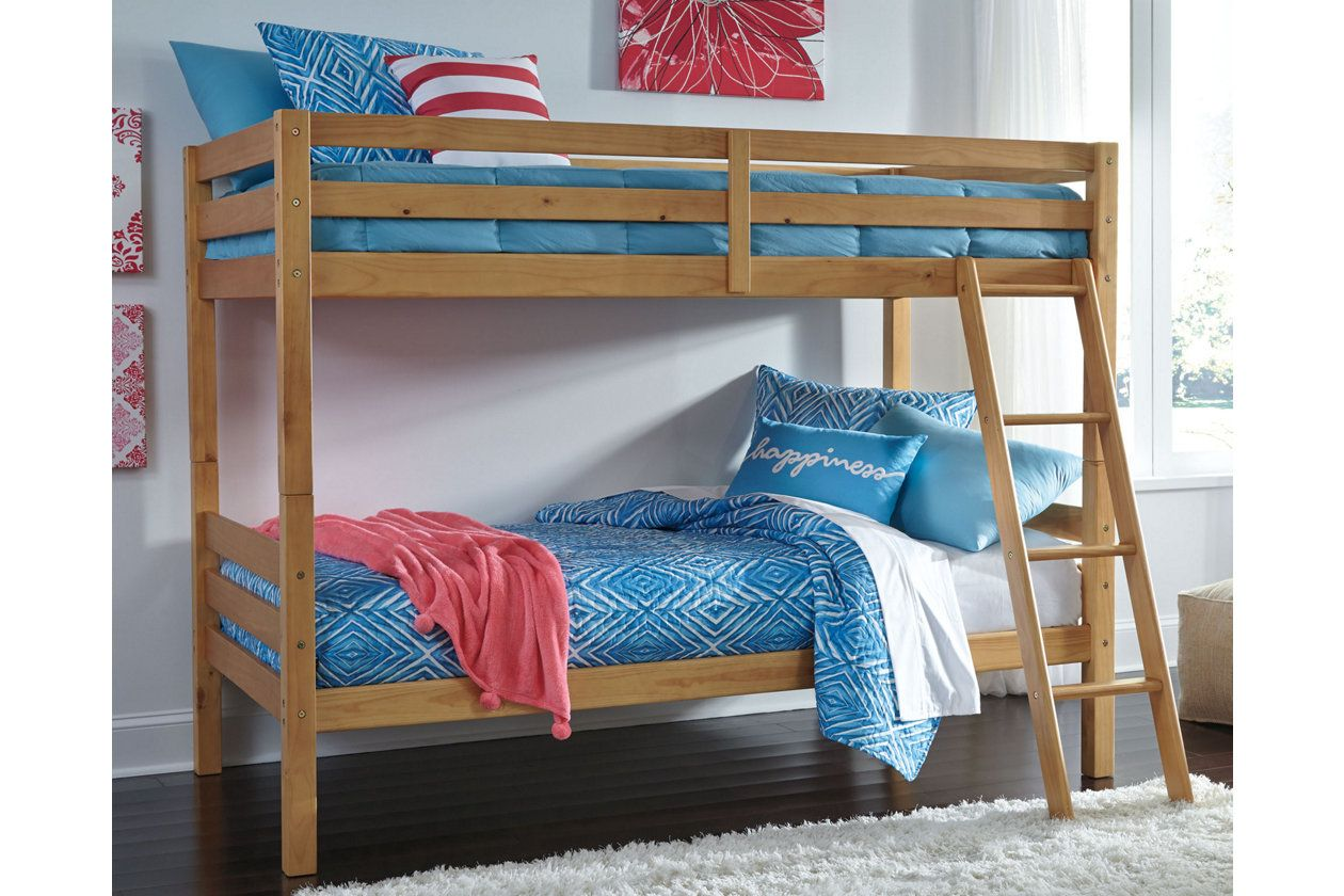 Halanton Twin Over Twin Bunk Bed With Ladder Ashley Furniture Homestore Bunk Beds With