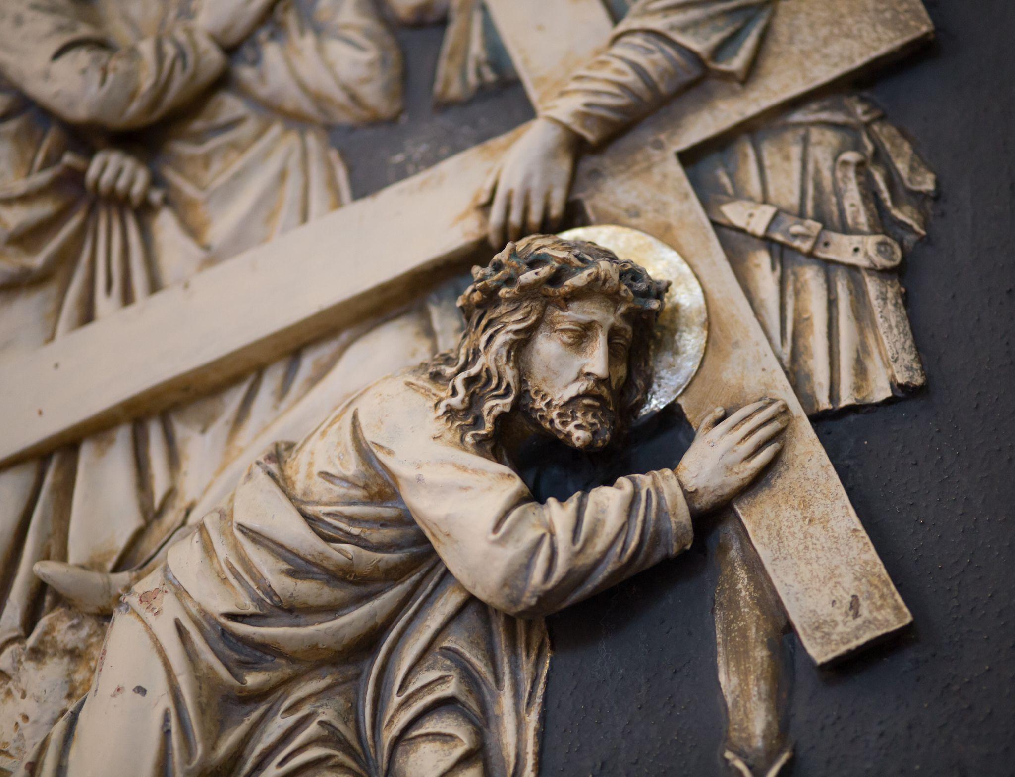 Jesus Fallt Zum Zweiten Mal Unter Dem Kreuz Religiose Kunst Kreuze Kunst