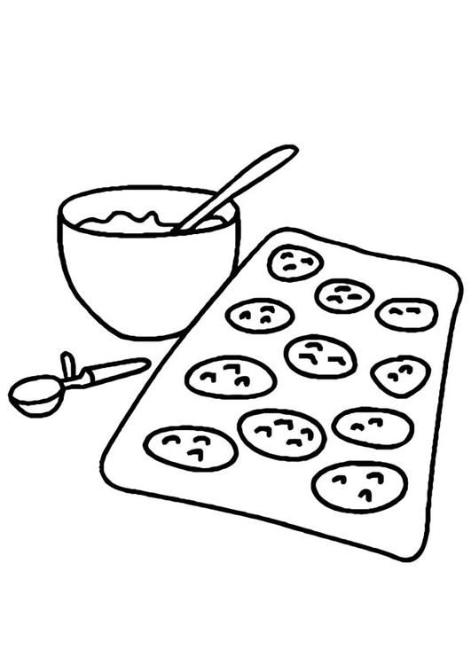 Coloring Page Baking Cookies Img 10967 Coloring Pages