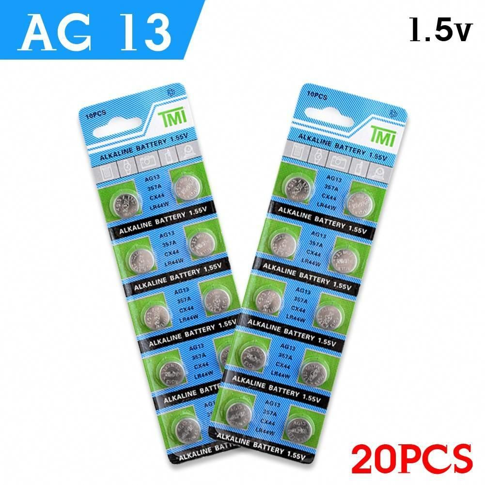 Ycdc 20pcs Ag13 Lowest Price 1 5vbattery Lr44 L1154 Rw82 Rw42 Sr1154 Sp76 A76 357a Ag13 Sr44 Ag 13 Lithium Cell Coin B Button Cell Car Battery Charger Battery