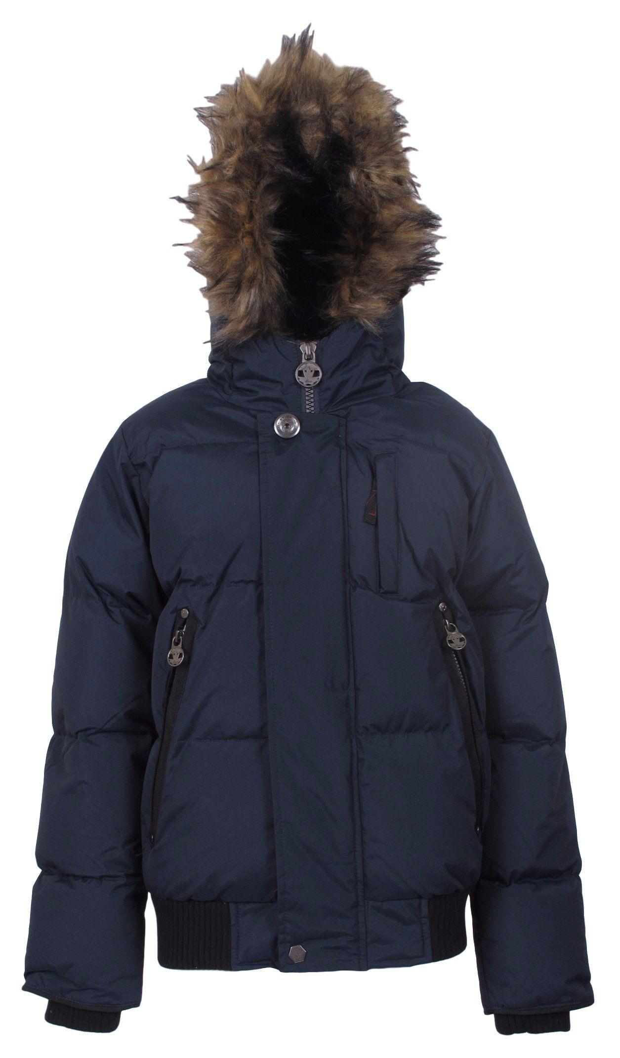 J Whistler Boy S Summit Insulated Puffer Snorkel Bomber Jacket Coat Navy 8 Water Resistant Outer Is 100 Ribbed Polyester Bomber Jacket Jackets Coats Jackets [ 2142 x 1255 Pixel ]