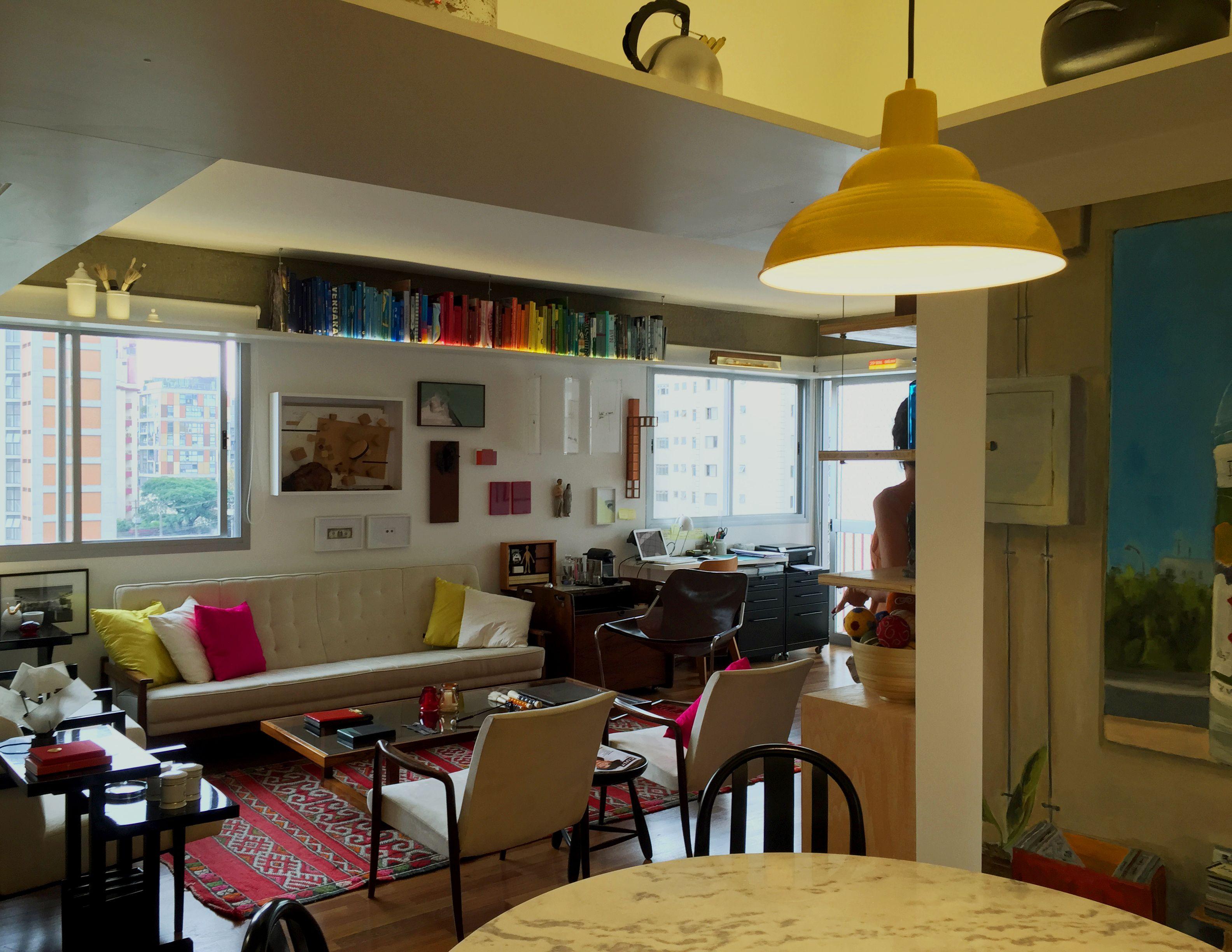 Sala De Estar Integrada Com Cozinha E Copa Multi Colorido  -> Sala E Cozinha Integrada Como Decorar