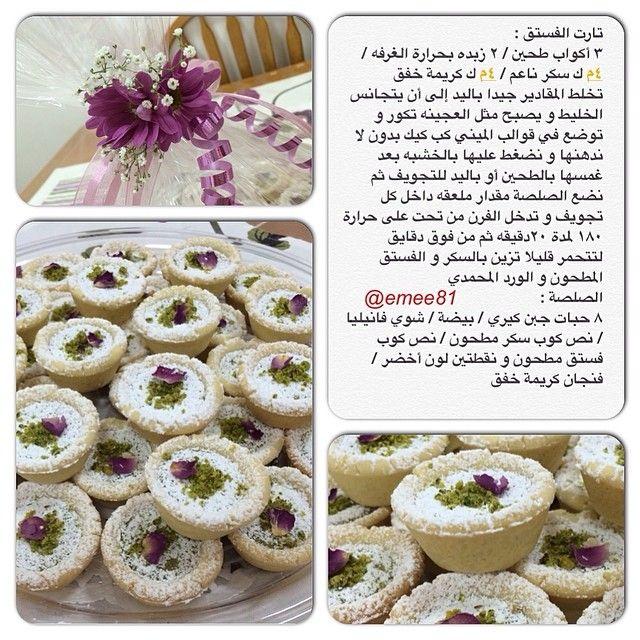 طريقة ميني تارت الفستق Padgram Sweet Recipes Ramadan Sweets Lebanese Desserts