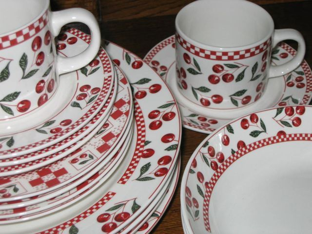 Cherry Claufuti Recipe And An Infatuation With Dishware