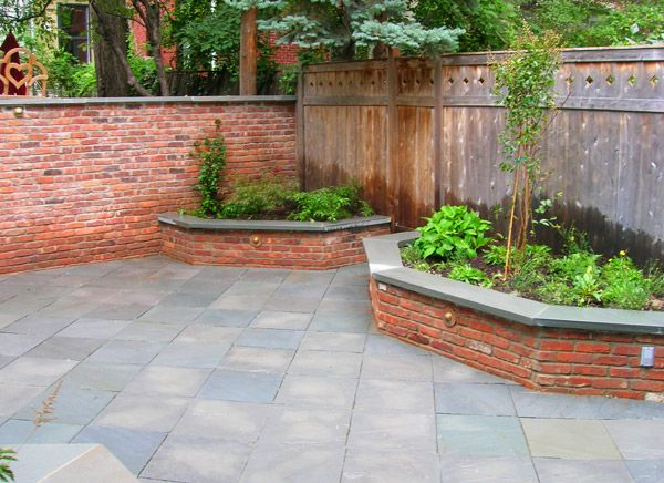 Idea For The Back Brick Raised Beds Up Against The Fence I