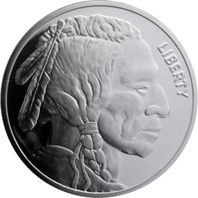 2014 1 10 Ounce Silver Buffalo Coin 99 9