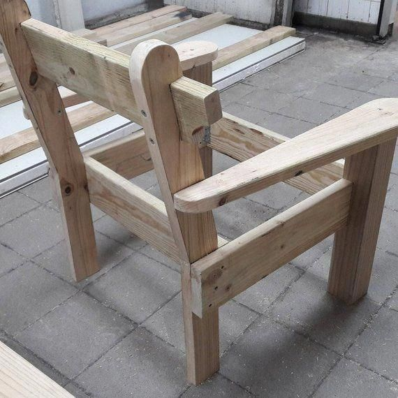 Garden Chair And Bench Combo Woodworking Plans In 2019