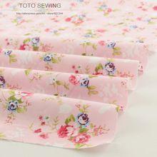 Nuevo color de rosa impreso floral patrones 50 cm x 160 cm/pieza acolchar la tela de algodón textiles para el hogar tela directo de la fábrica envío gratis(China (Mainland))