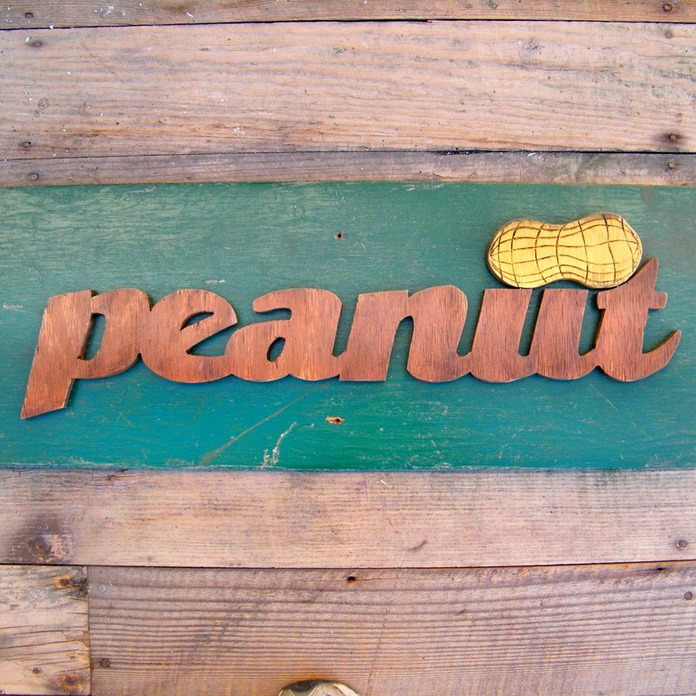 Peanut Southern Word Wooden Country Sign by SlippinSouthern. $62.00, via Etsy.