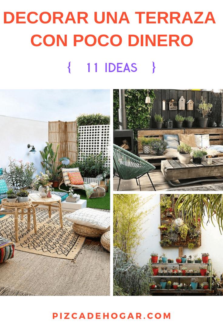 Ideas Para Decorar Una Terraza Con Poco Dinero Terraza Patio Y Jardin Decoracion De Unas