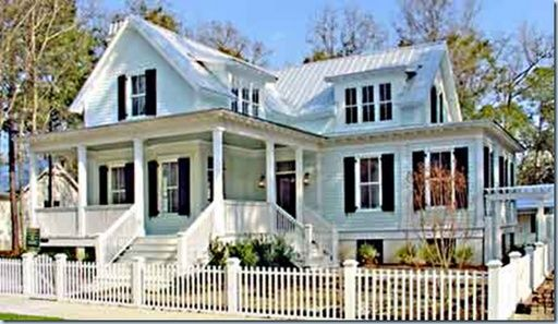 white house with silver metal roof - google search | porches