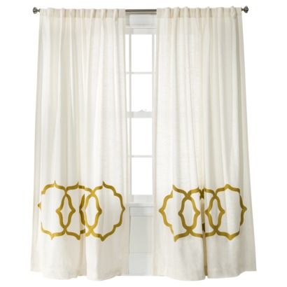 Nate Berkus ThresholdTM Fretwork Border Window Panel Love These As An Accent Drape They Also