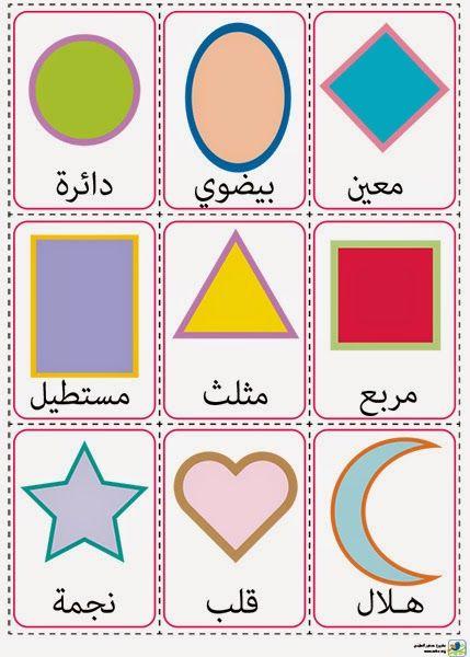مشروع عصفور التعليمي بطاقات الأشكال Learning Arabic Arabic Kids Arabic Resources