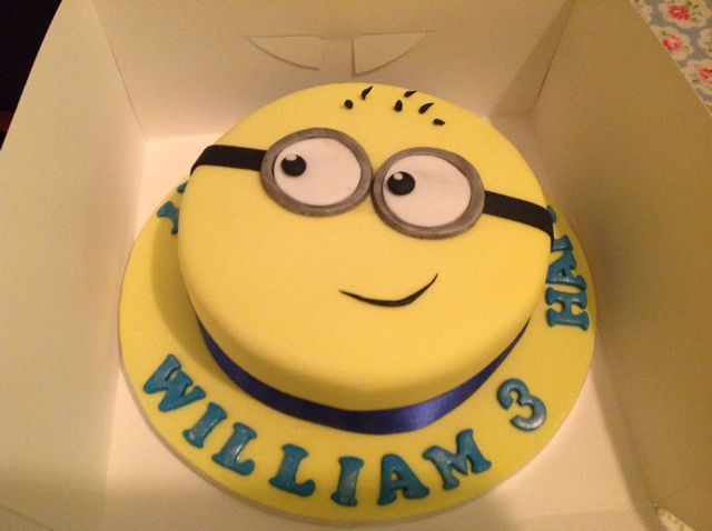 Birthday Cake For Boy 3 Years Old ~ Mary h baked this minion cake for a year old boy party ideas