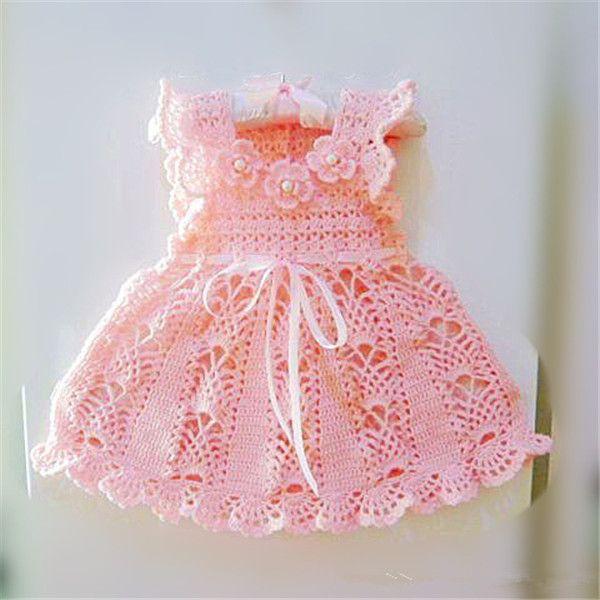 Handmade crochet baby dress 2014 princess dress design for