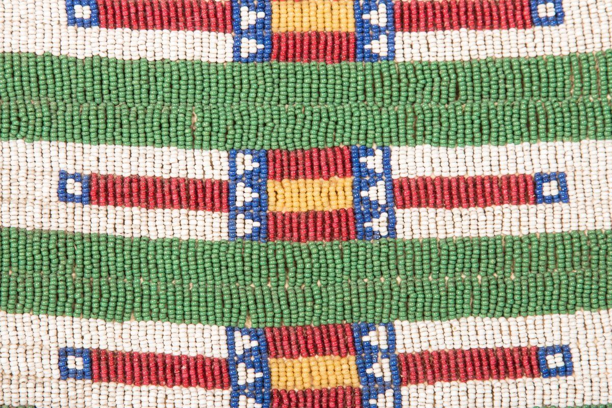 "Northern Plains Beaded Possible Bag, 11"" x 21"" - March in Montana"