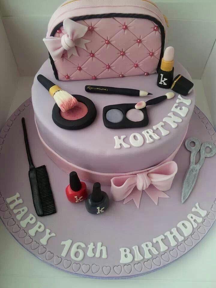 Girly Make Up Cake Cake Inspirations In 2019 Birthday