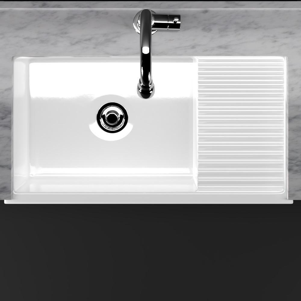 36 Inwood Fireclay Single Bowl Farmhouse Sink With Drainboard With Images Drainboard Sink Farmhouse Sink Sink