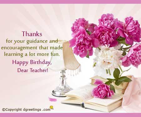 Birthday Wishes Happy Birthday Teacher Wishes Teacher