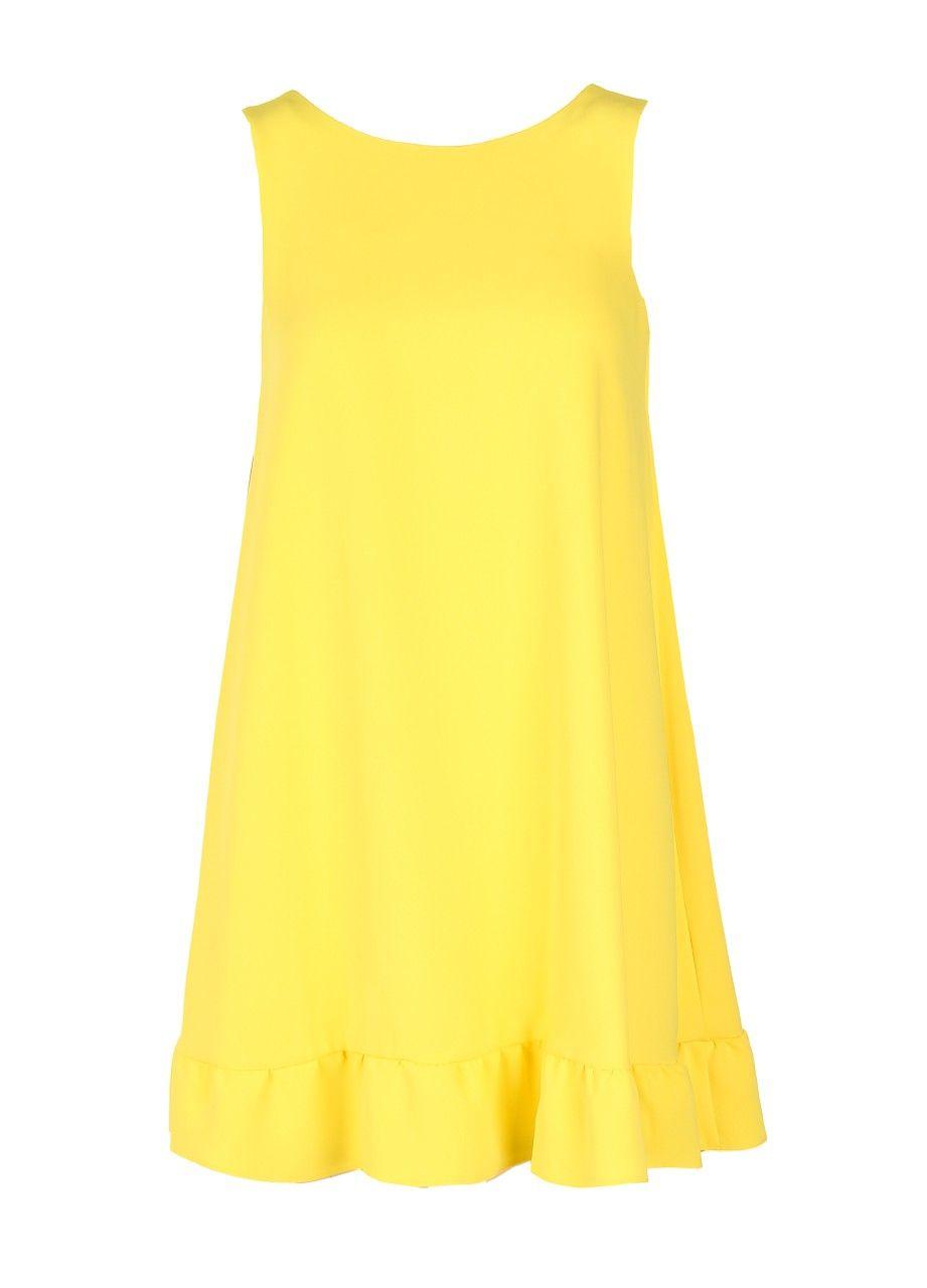 PIU & PIU Sommer Kleid mit Knalleffekt - gelb - MONDIALmode ...