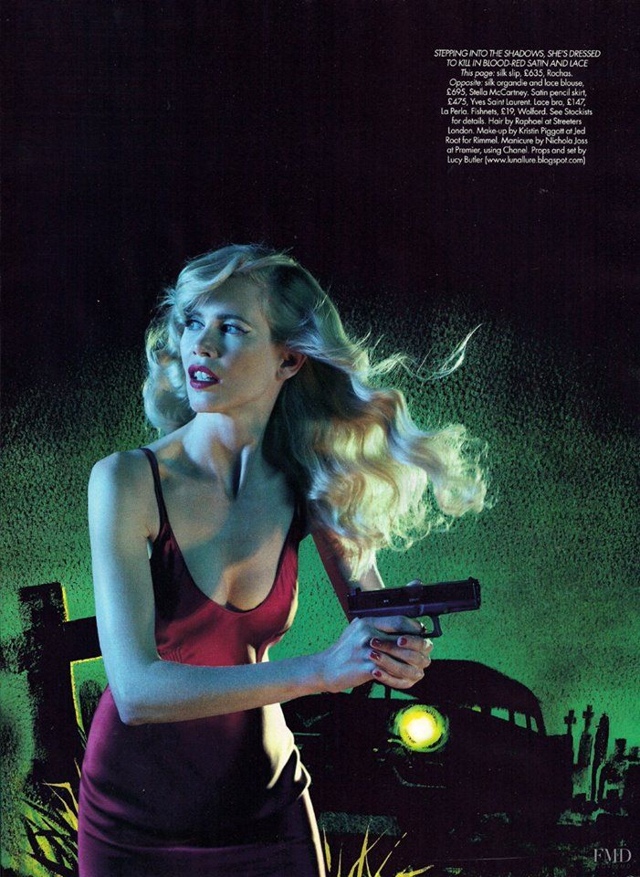Claudia Schiffer in MYSTERY IN THE MOONLIGHT- Harper's Bazaar UK, October 2009 Photos by Jake and Dino Chapman