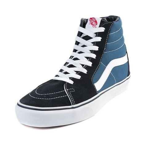 Vans SK8 Hi Skate Shoe, Navy White