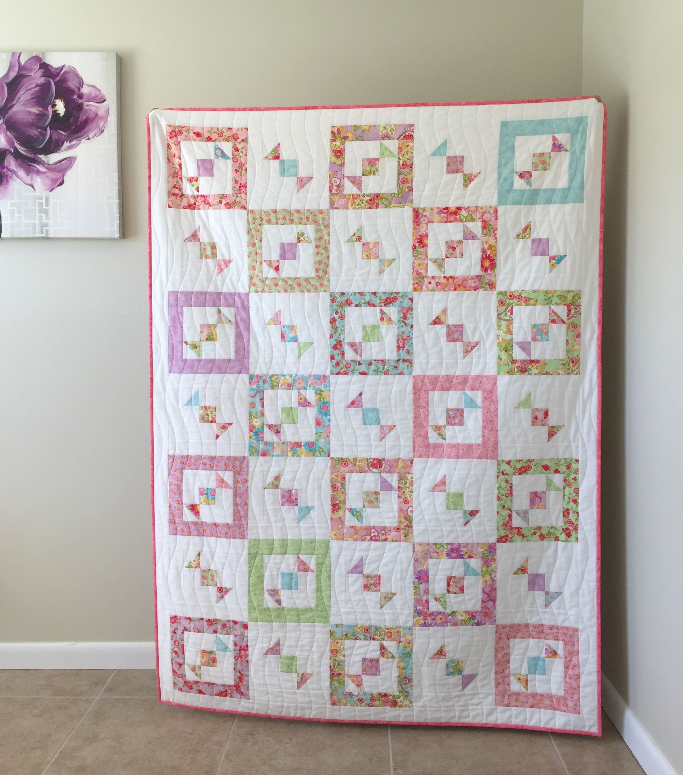 Boxed Candy Toss Quilt With Tips & Techniques