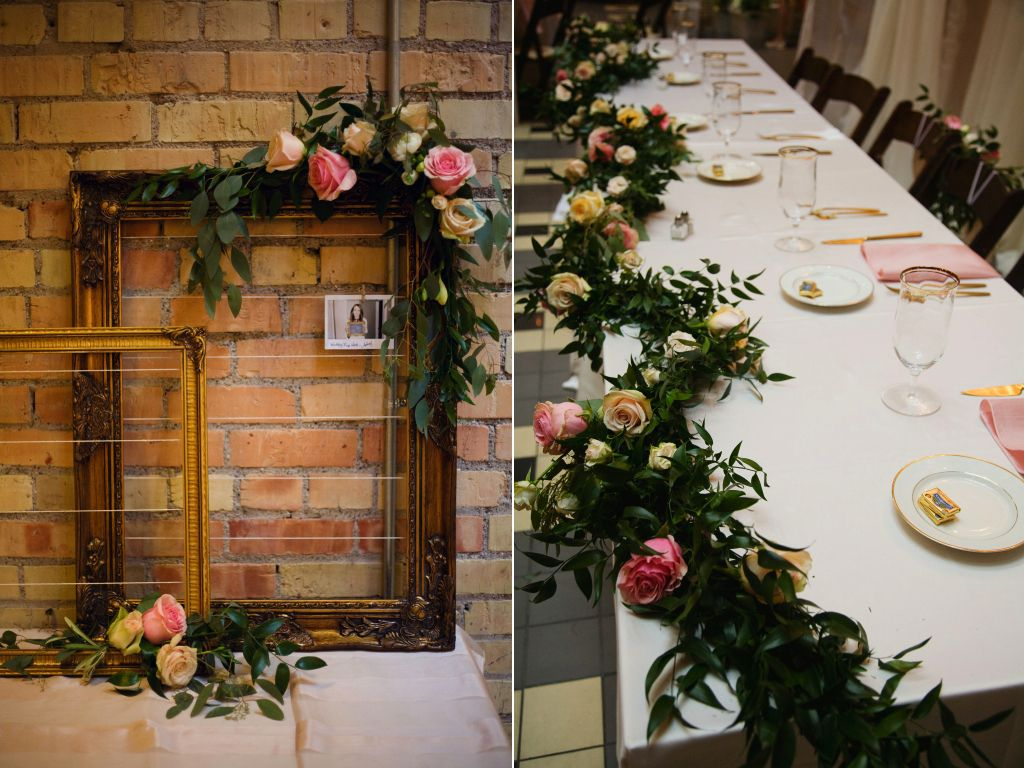 Salt Lake Hardware Building Wedding Flower Garland Table Frame Flowers Utah Calie Rose Www