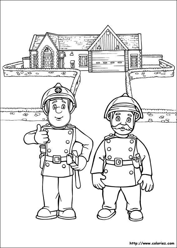 épinglé Par Géorgina Kincaid Sur Coloriages Sam Le Pompier Colores