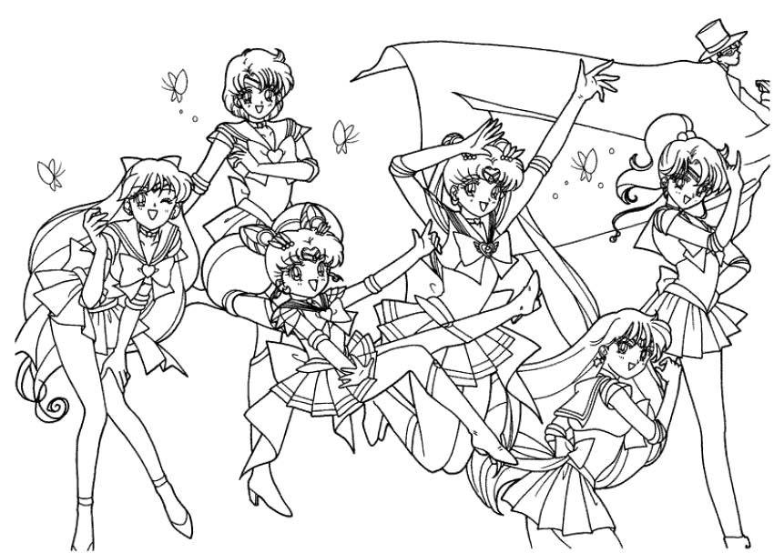 super sailor moon coloring pages kids