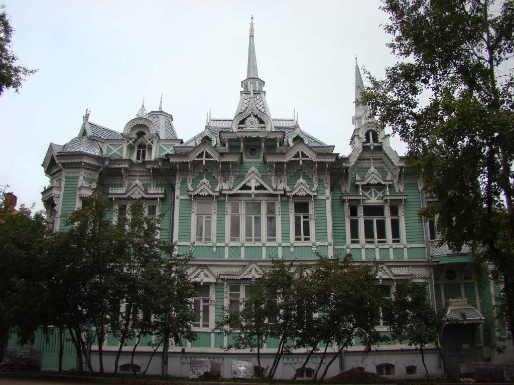 старинный терем the house tower in old russian mansions tomsk