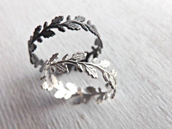 Black Hills Gold Bracelet Lace silver ring Oak leaf ring Filigree ring Silver by CrazyAssJD -
