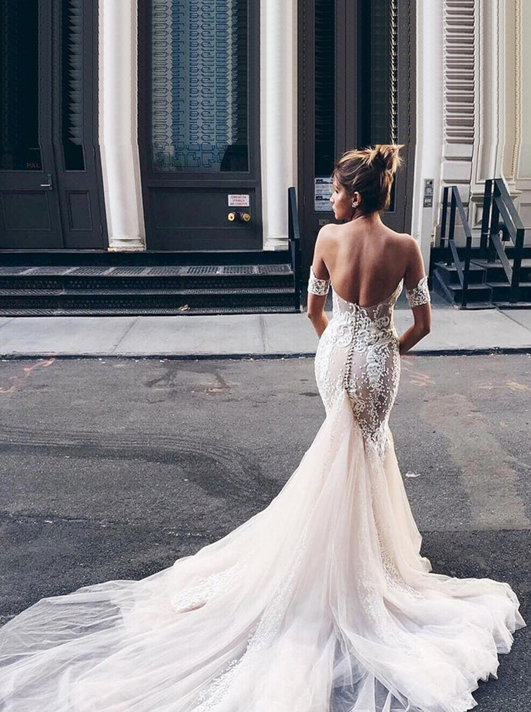 beautiful white lace wedding dress open back ideas white lace