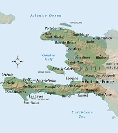Next Year I Plan To Go Here With My Church Mission Team And Teach - Physical map of haiti