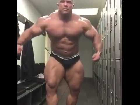 Strong guys hammering in the locker room