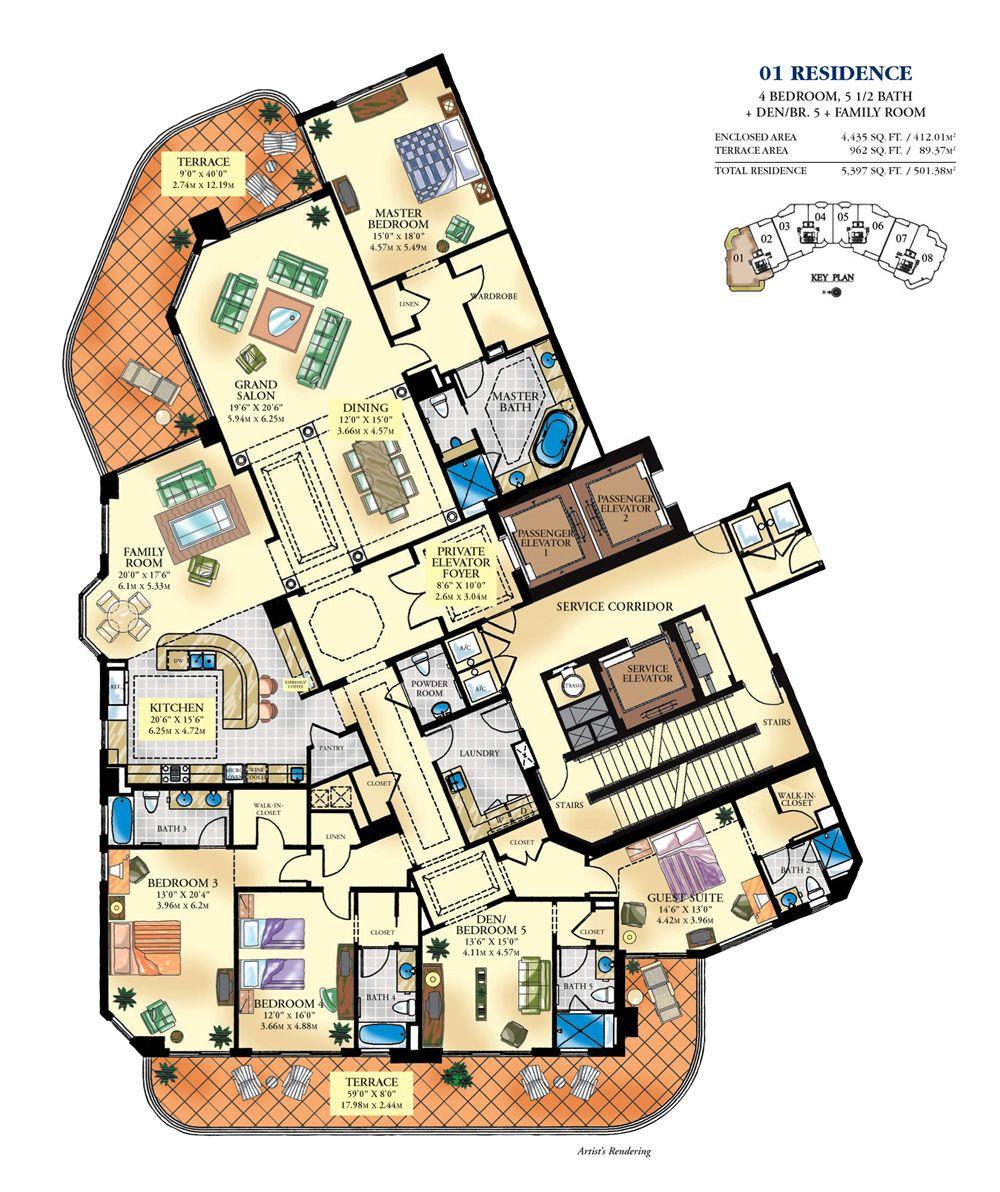Luxury Floor Plans Bella Mare Aventura Condo 6000 Williams Island Blvd Fl 33180 Luxury Floor Plans Condo Floor Plans Apartment Floor Plans