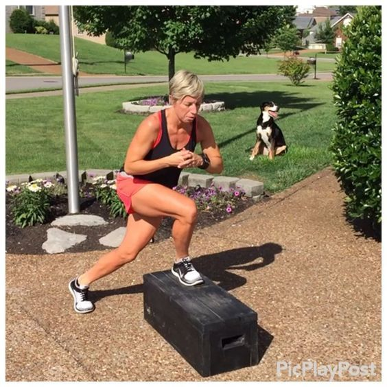 Great Leg Toning Exercise!  30 seconds each leg make sure you stay low and don't fully stand. Repeat...