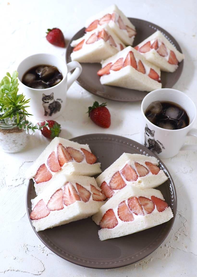 濃厚チーズクリームのいちごサンド【カフェ風・おうちカフェ】 by きゃらきゃら | 【Nadia | ナディア】レシピサイト | プロの料理を無料で検索