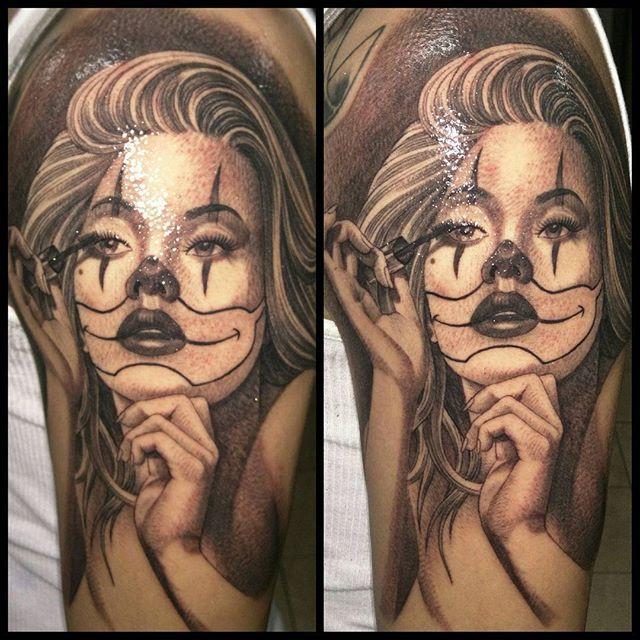 Clown Girl Tattoo Meaning: Clown Girl