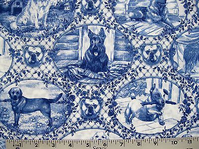 Dog Toile Fabric Google Search Toile Fabric Quilts Blue Toile