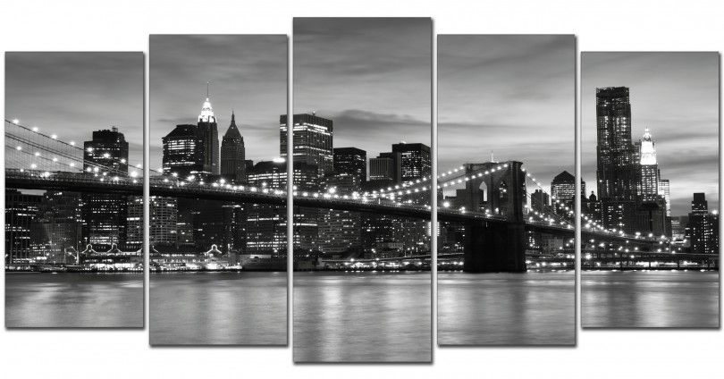 Cuadro New York blanco y negro http://www.cuadrosyespejosmodernos ...