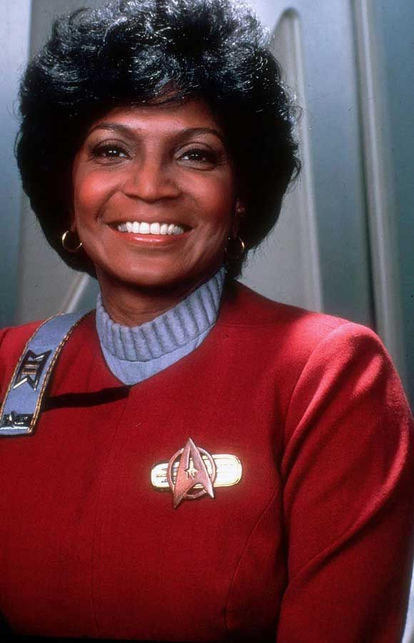 A beautiful portrait of Uhura (Nichelle Nichols) circa movie II (The Wrath of Khan).