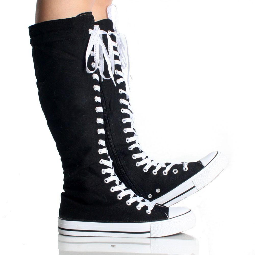 Bajar Hornear Dime  Unas Botas Largas Converses | Zapatos mujer de moda, Zapatos hombre botas, Botas  largas