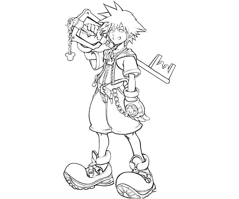 Kingdom Hearts Coloring Pages Coloring Pinterest Heart
